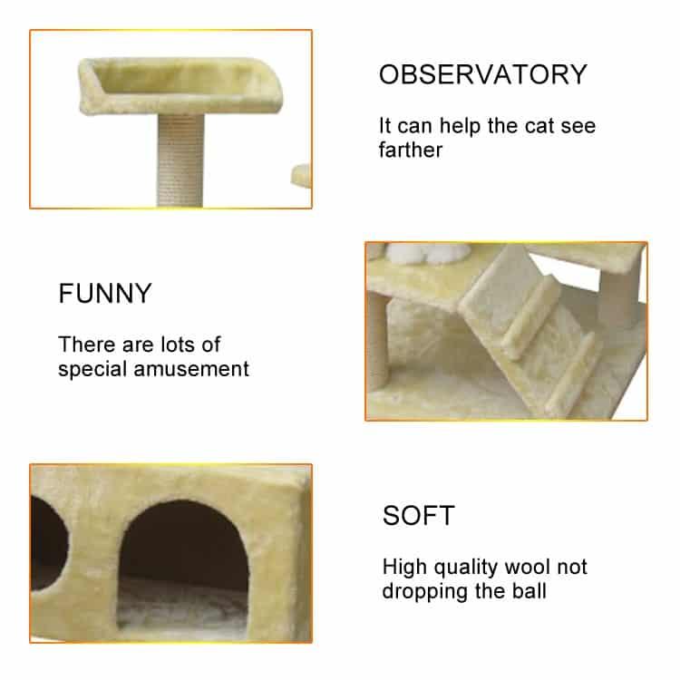 Nhà cây cào móng cho mèo - Luxury Cat Tree DCT1020