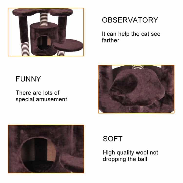 Nhà cây cào móng cho mèo - Luxury Cat Tree DCT1059