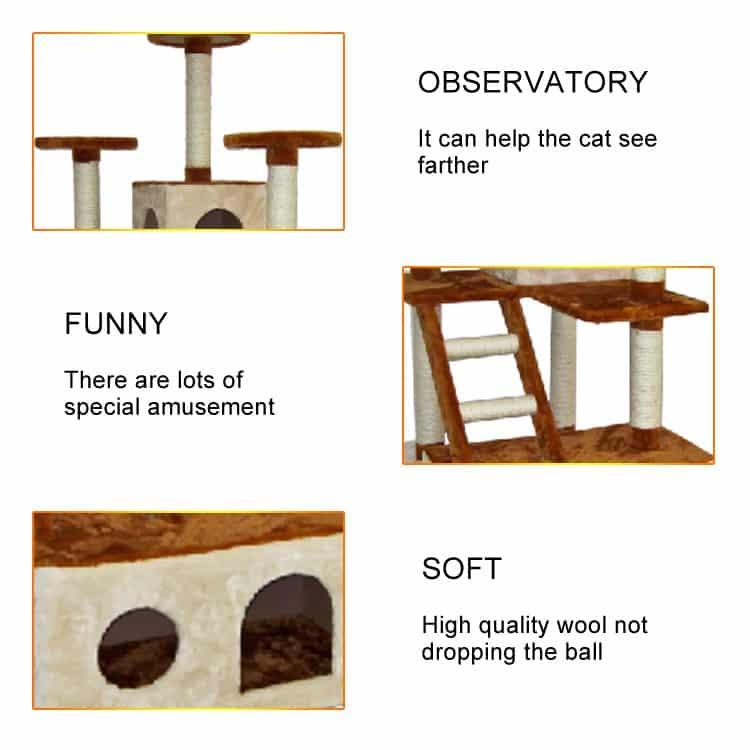 Nhà cây cào móng cho mèo - Cat Tree DCT1064