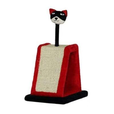 Trụ cào móng cho mèo màu đỏ đen QQ60137