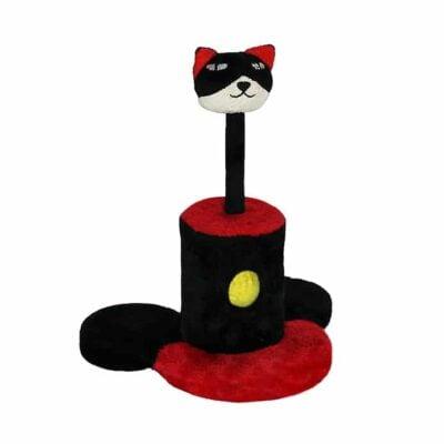 Trụ cào móng cho mèo màu đỏ đen QQ60136