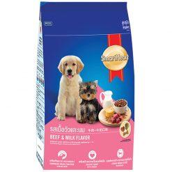 Thức ăn cho chó con - Smart Heart Beef & Milk Flavor