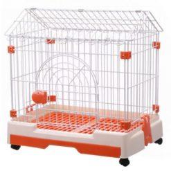 Chuồng sắt cho chó mèo sàn nhựa có mái AUPET 0933 size M